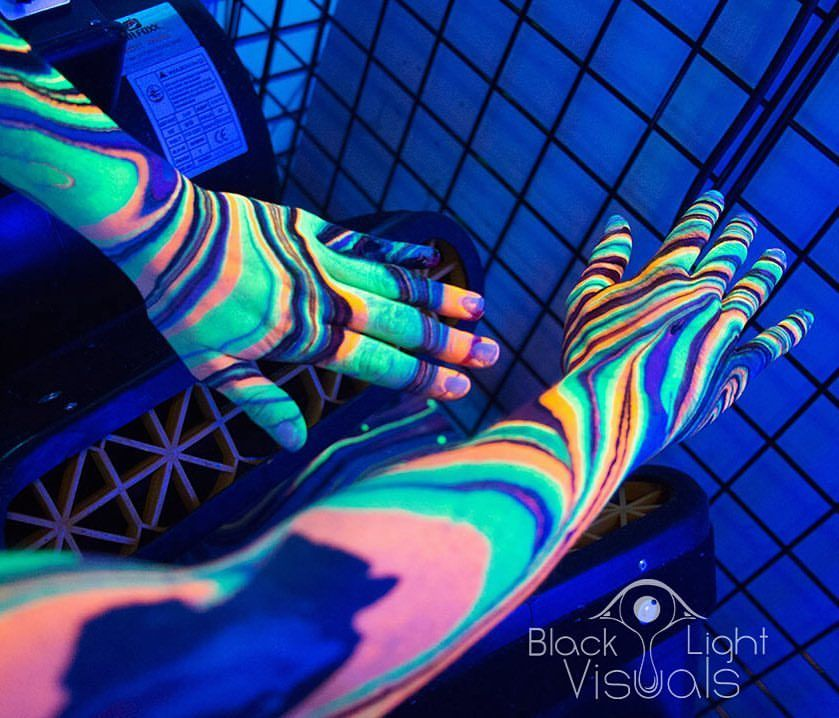 Body Marbling Is An Increasingly Popular Body Art Technique That Allows People To Turn Their Arms Into Temporary Psychedelic Works Of A Black Light Body Visual