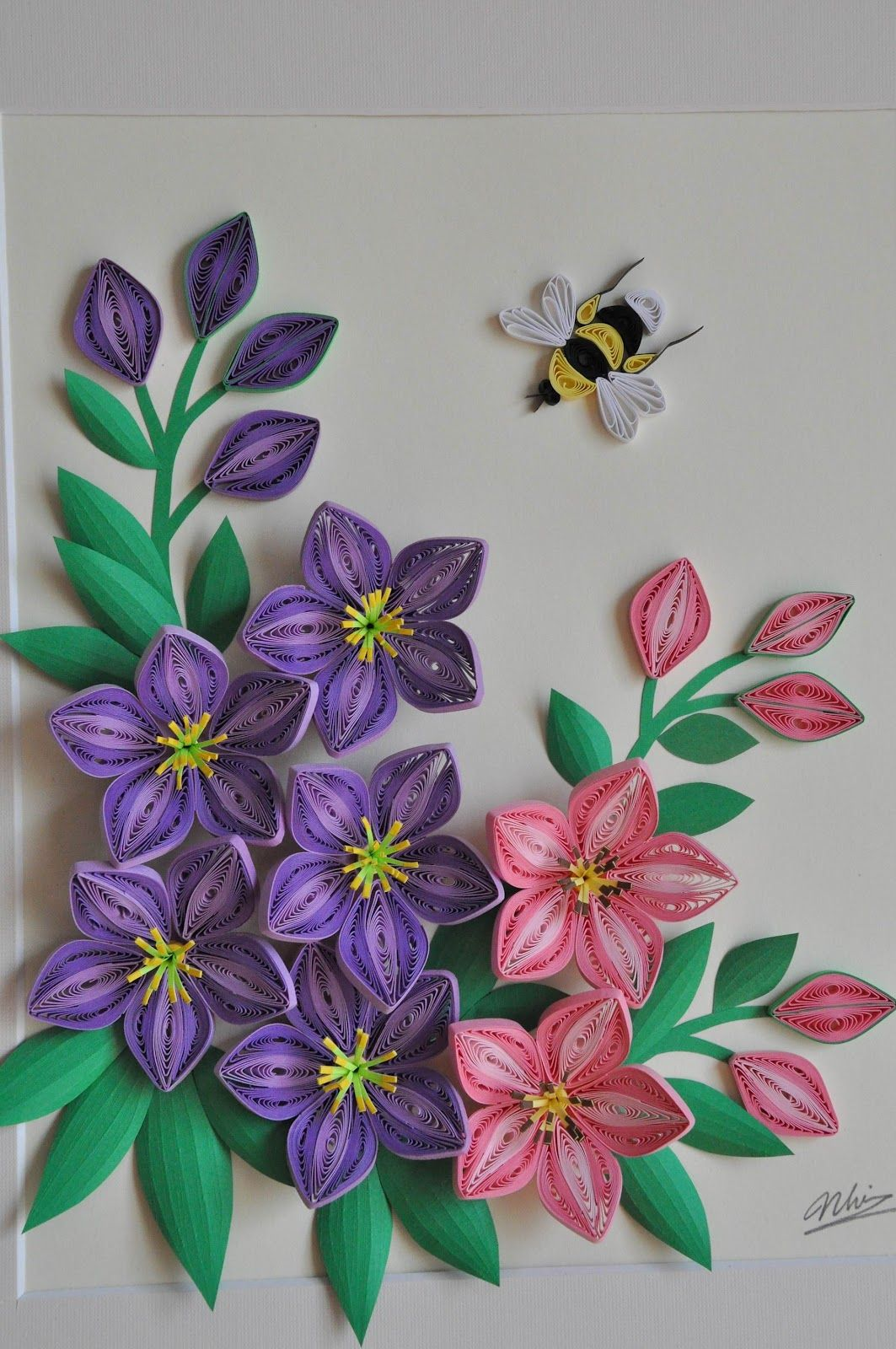 Nhipaperquilling 19 Quilling Flowers Lilies Pinterest