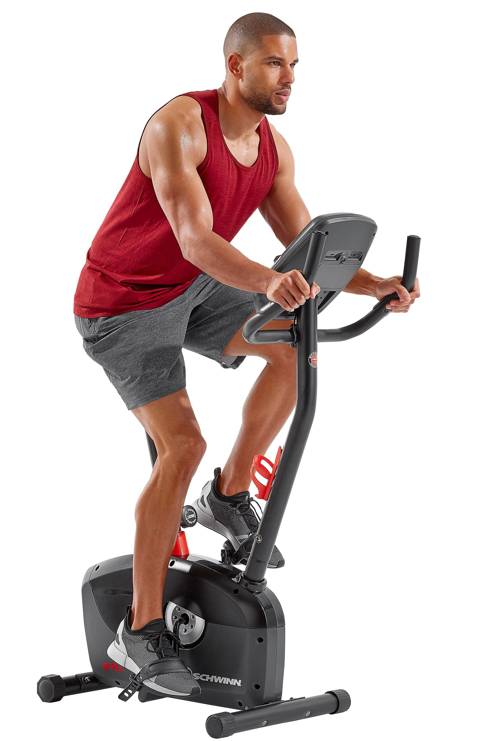 Schwinn A10 Heart Rate Enabled Upright Bike With 7 Workout