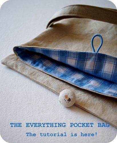 Pocket Bag tutorial by chickpeastudio, via Flickr