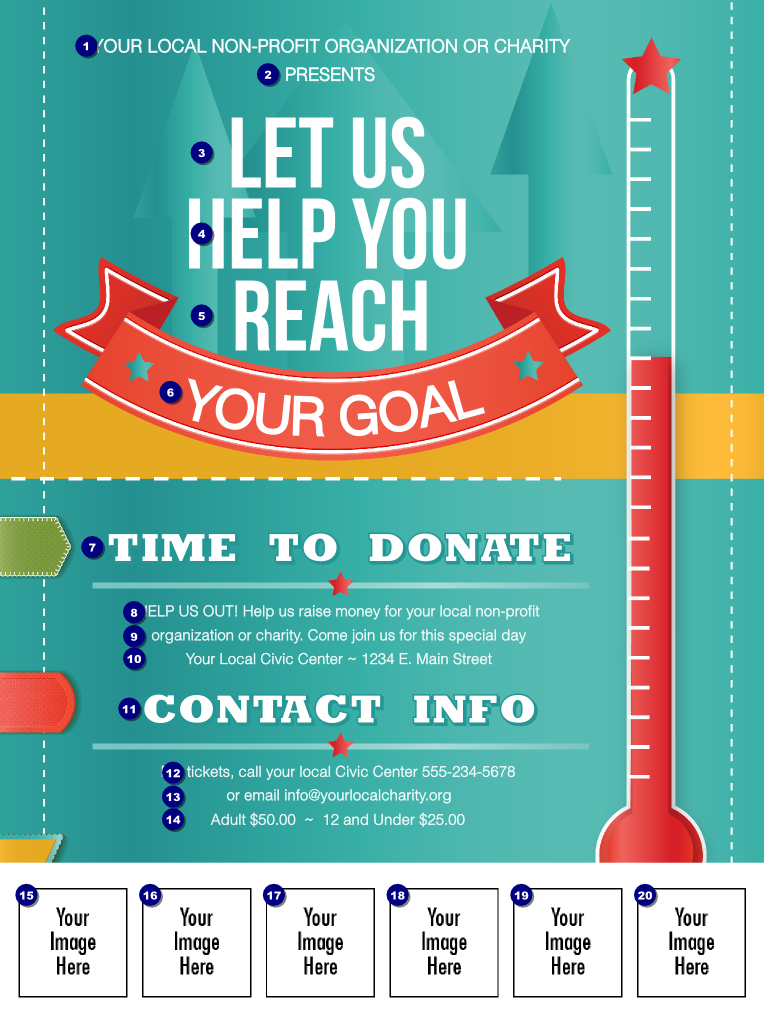 Fundraising Thermometer Logo Flyer (With images