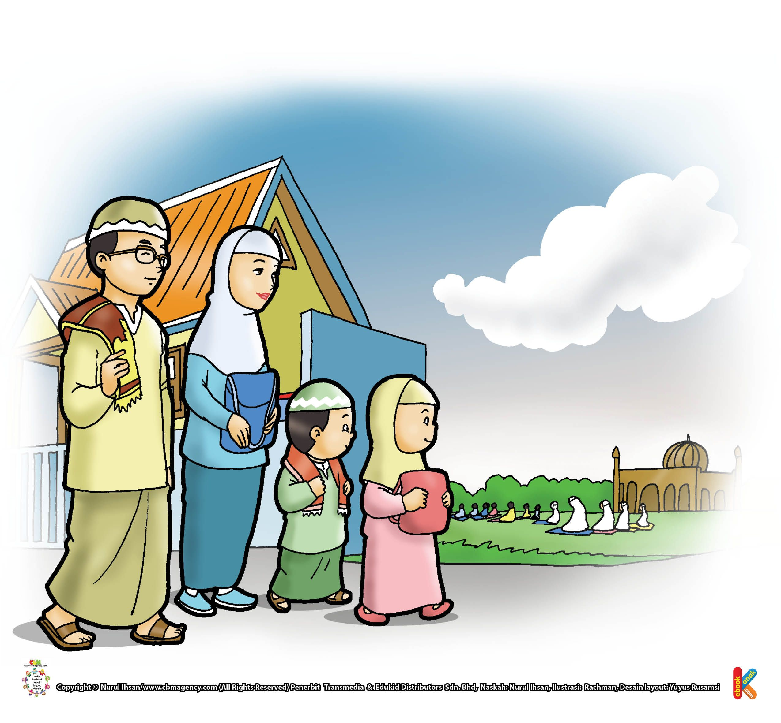 Gambar Animasi Anak Muslim Pergi Sholat Kata Nabi Pergi Shalat Idul Fitri Jalan Kaki Ebook Anak Kartun Anak Bepergian