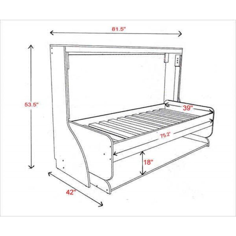 Best Hiddenbed Single Bed Dimensions Diy Home Pinterest 400 x 300