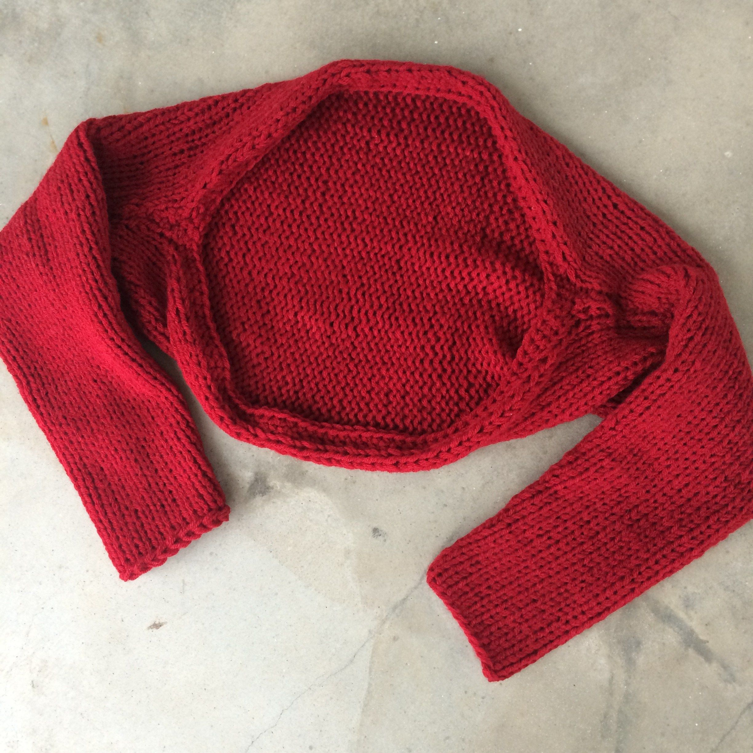 Simple Knitted Shrug | Stricken, Stricken häkeln und Strick