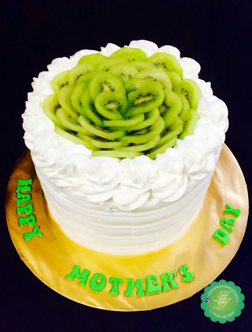the #ultimate #kiwi #cake with #fresh #kiwis, #kiwi #fruit #filling