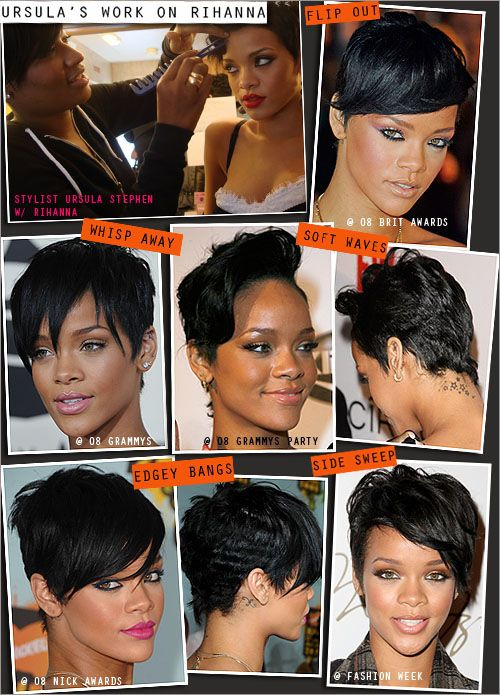 Pix For Gt Rihanna Short Haircuts Front And Back Rihanna Short