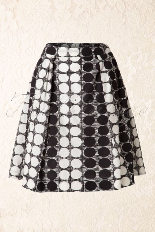 Emily And Fin Black and White Retro Skirt 123 14 14550 20150203 0006W