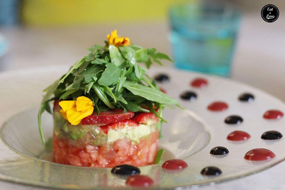 ensalada rojo pasión en Boho Bar restaurante Chueca Madrid