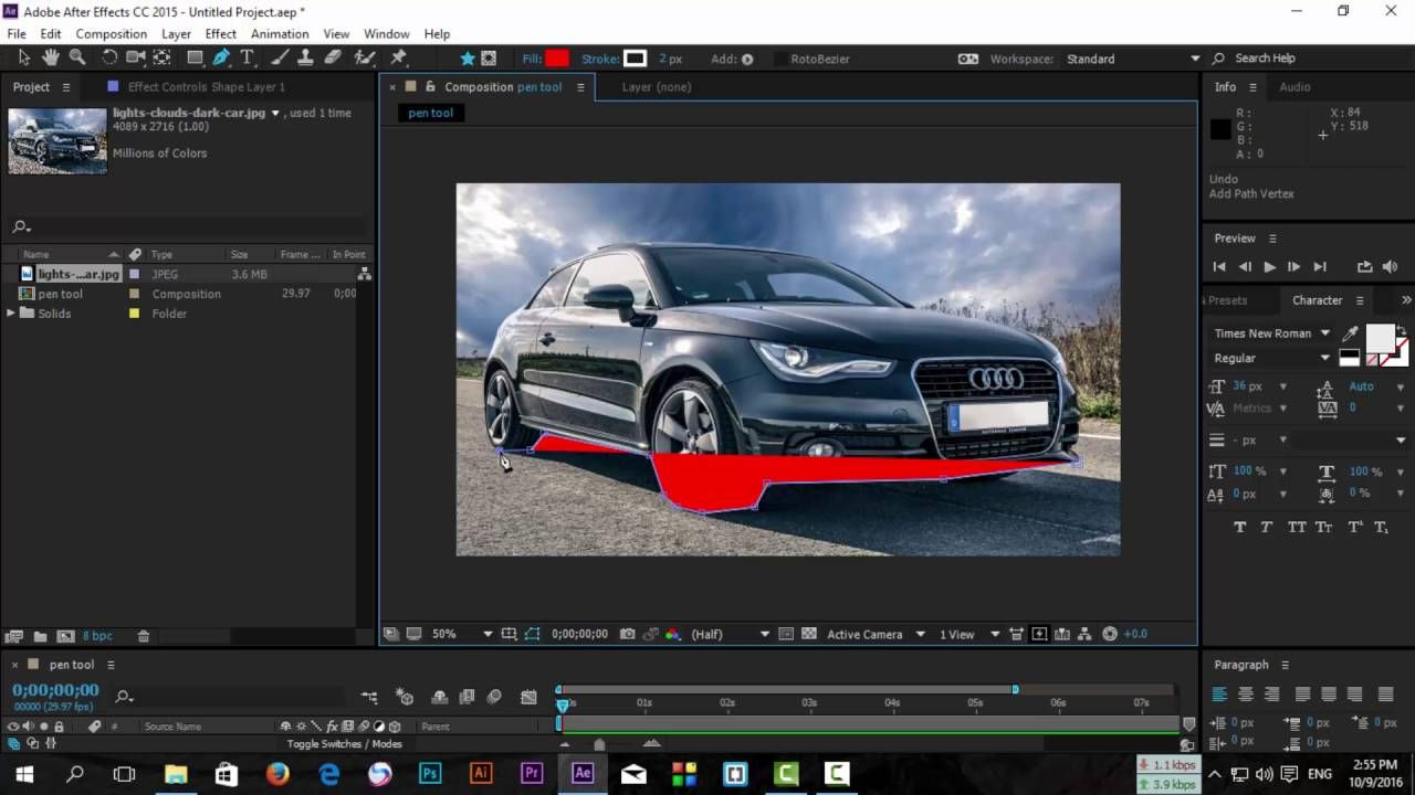 After Effects Cc 2017 2018 2019 Pen Tool Class 05 Masking
