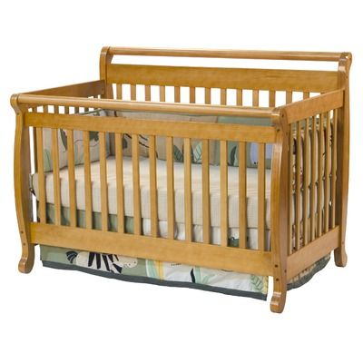 Davinci Emily 4 In 1 Convertible Crib With Toddler Rail In Honey Oak Baby Cribs Convertible Crib For Sale Convertible Crib