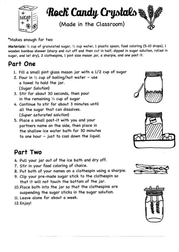 11+ Rock Candy Science Experiment Worksheet   Candy science experiments [ 1053 x 749 Pixel ]