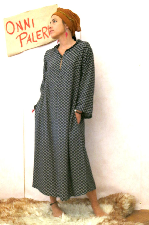 Kaftan dress, oversized ethnic dress, kaftan, boho dress, maxi tunic ...