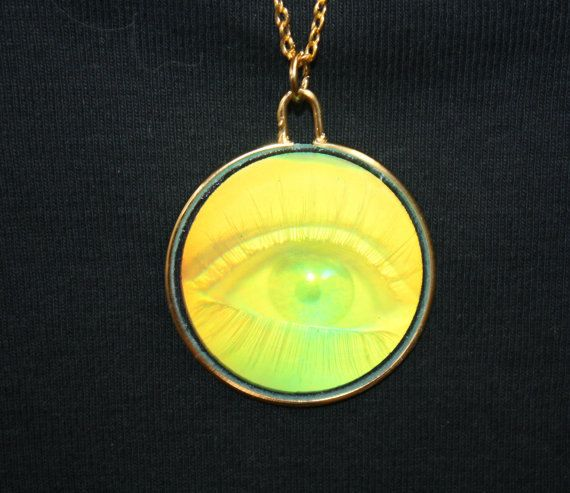 2 left 90s hologram eye glass charm on 24 long necklace eye 2 left 90s hologram eye glass charm on 24 long necklace mozeypictures Image collections