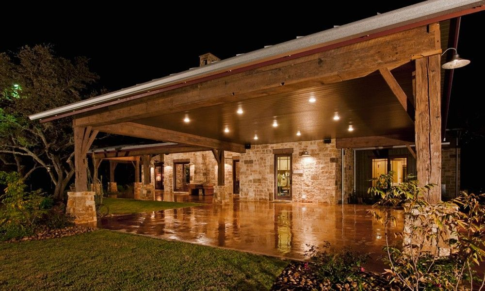 Rustic outdoor event space blanco ranch home heritage for Custom rustic homes