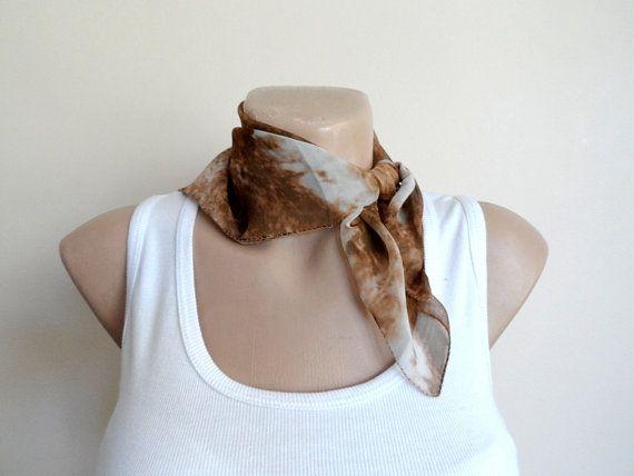 Ombre Scarf in Brown Tan, Women Scarf Scarves, Boho Chic, Glitter Chiffon, Fall Autumn Fashion