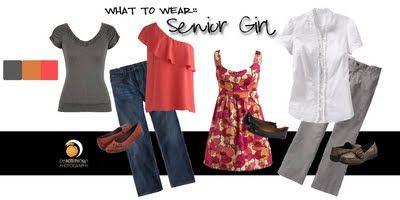3 cute outfits, senior girls