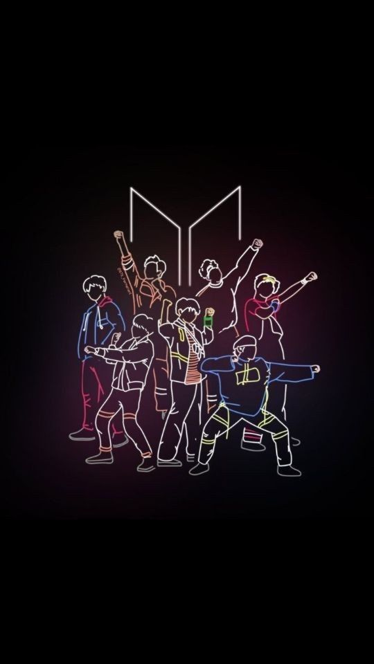 Can someone provide me with lockscreen wallpaper of themed bts logo in light colours? - ARMY Room ⁷