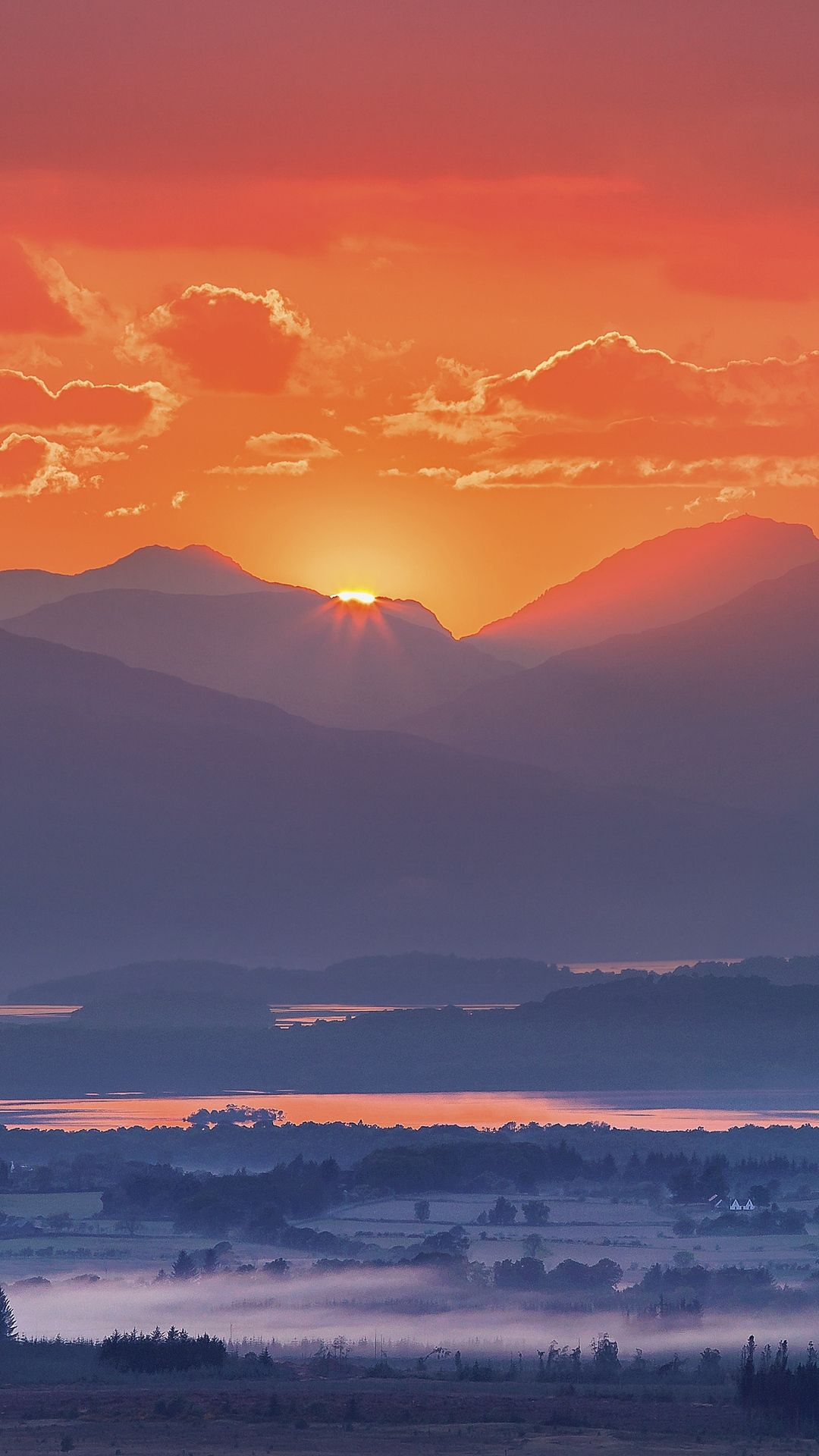 Sunset Mountains Wallpaper Android Download sunset