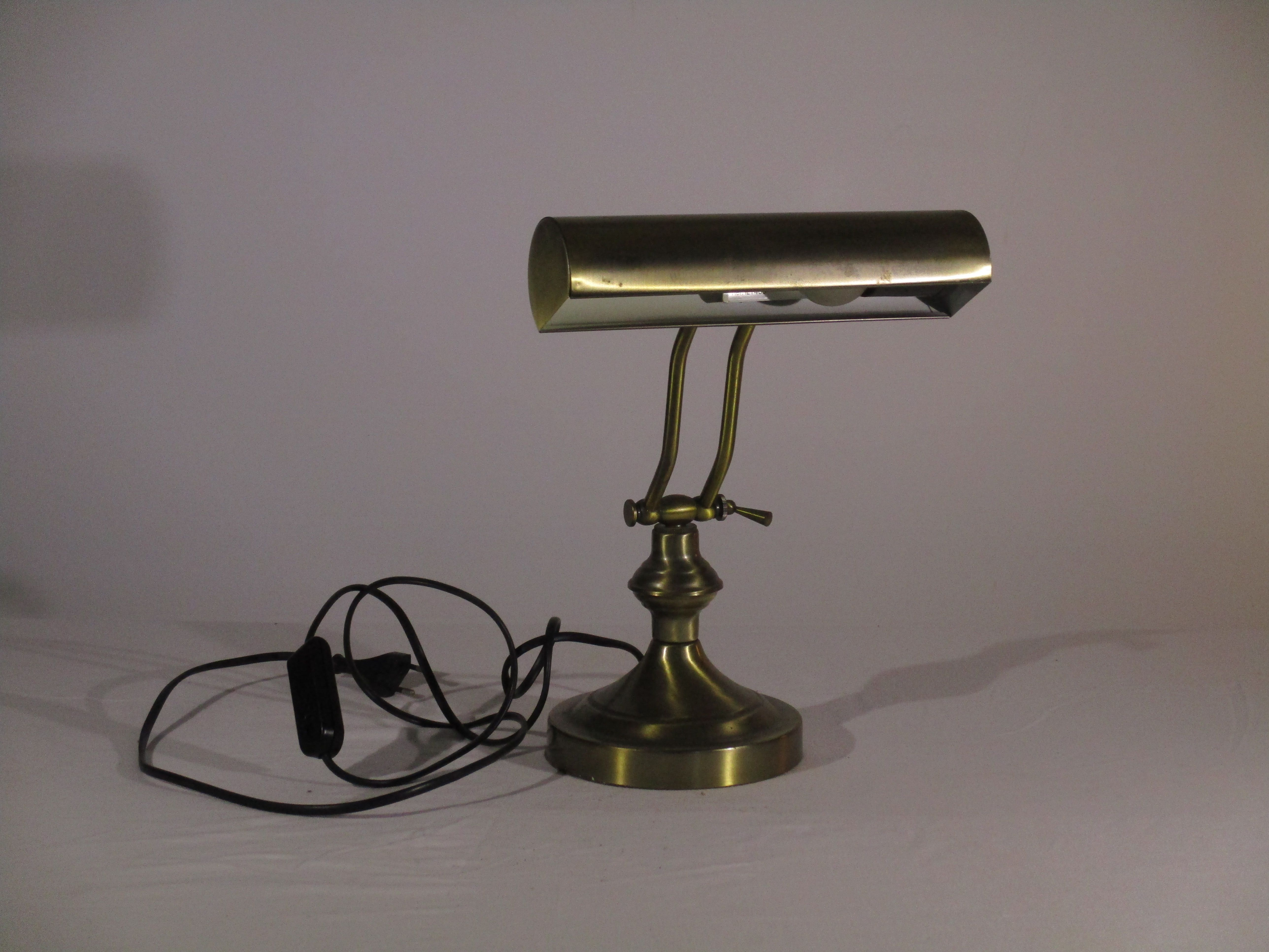 Lampe De Bureau Ancienne Probable Copie Couleur Bronze Dimension