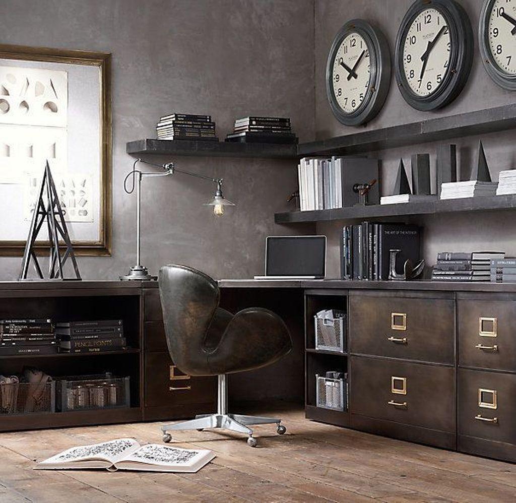 industrial farmhouse desk chair