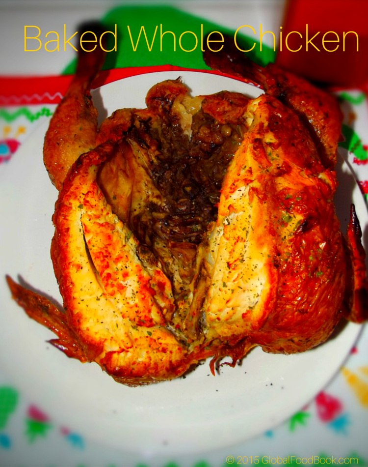 Baked Whole Chicken Recipe Cool Pinterest Whole Baked