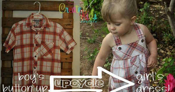 Upcycle: From a Boys Button-up to a Little Girls Dress