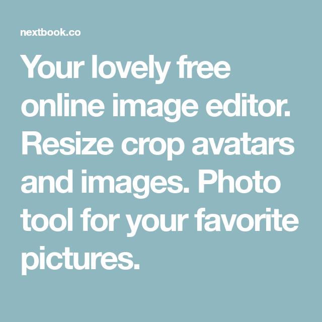Free online photo editor resize