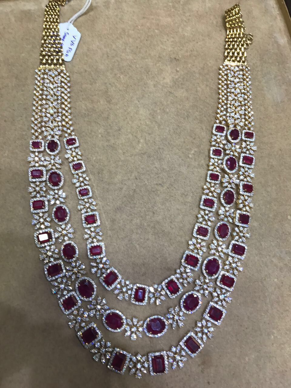 diamond indian necklace model haram kasu