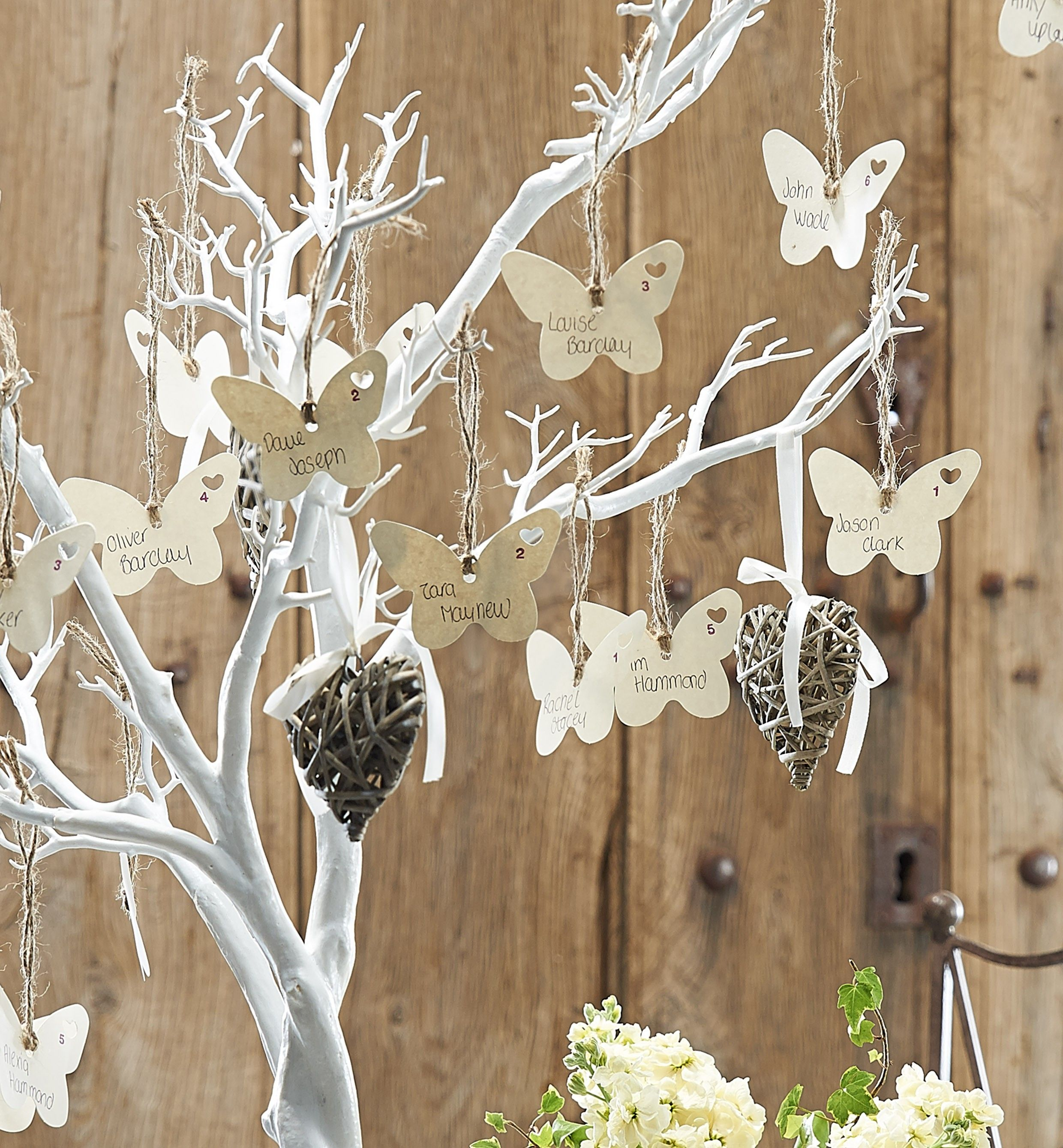 Beautiful Idea For A Wedding Using The Hobbycraft White Tree Only GBP2999