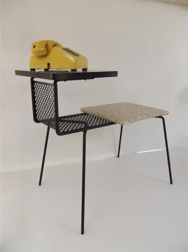 Details About Vintage Mid Century Modern 60s Phone Table