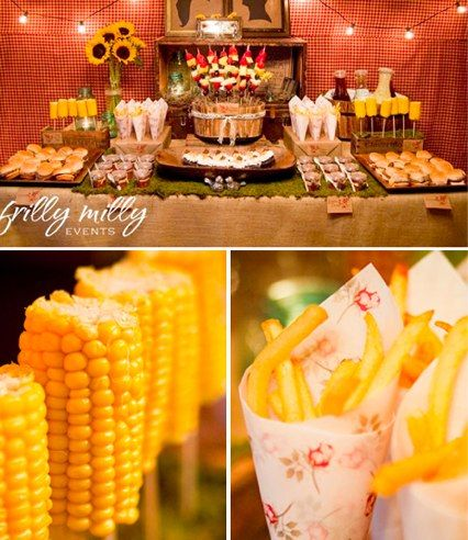 "The more I think about it, the more I want a pig roast wedding reception. This would be a nice ""side dish"" bar. :D"