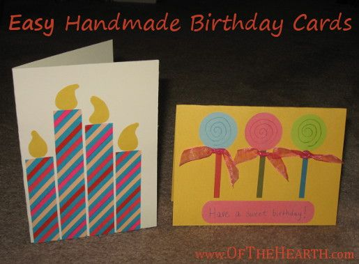 Easy Handmade Birthday Cards – Make Homemade Birthday Cards