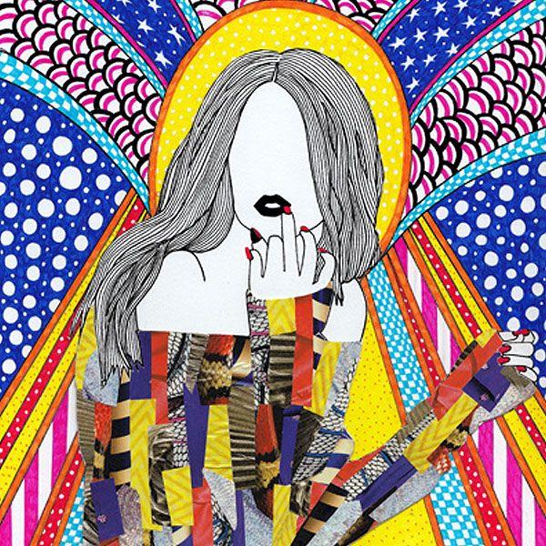 Mixed Media Girls Nikki Farquharson Illustration art