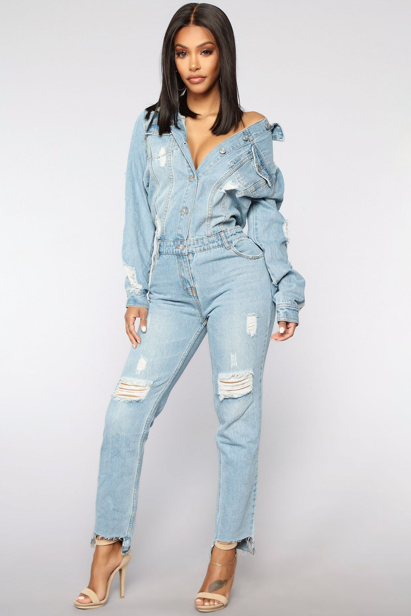 High Jump Denim Jumpsuit Medium Denim In 2020 Jumpsuit Fashion Fashion Nova Jumpsuit Denim Jumpsuit