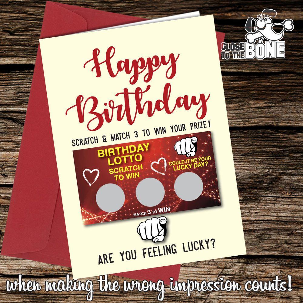 #271 Scratch Card GREETINGS BIRTHDAY Card Comedy / Funny / Humour / Rude Joke  | eBay