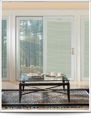 InterBlinds between-the-glass blinds for Soft-Lite Gorell patio doors & InterBlinds between-the-glass blinds for Soft-Lite Gorell patio ...