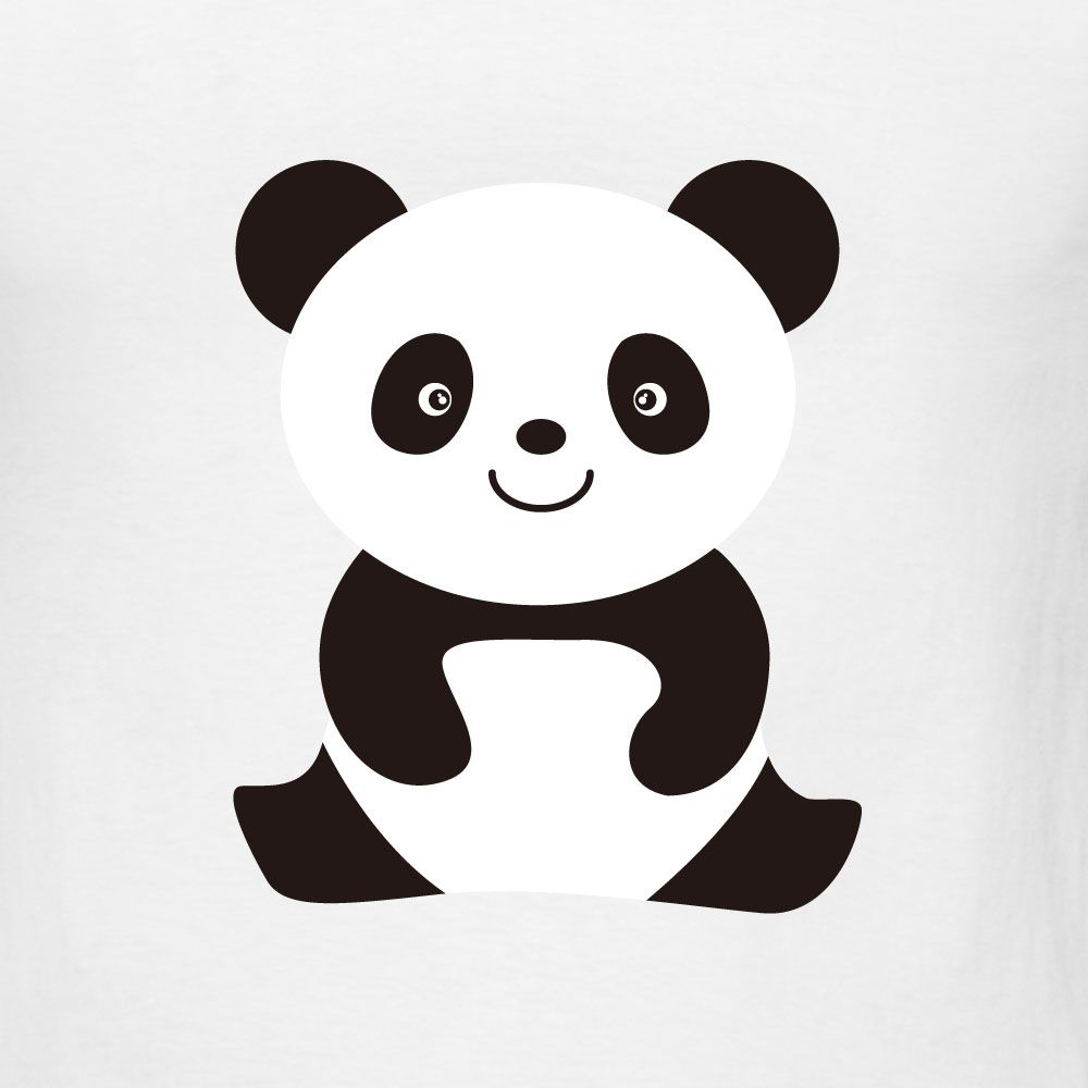 photograph relating to Printable Panda Pictures titled panda visuals in the direction of print for free of charge Smiling Panda T-Blouse