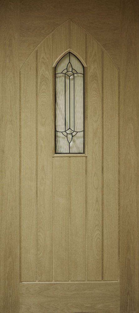 Oak External Front Door Westminster / Gothic 78x30 (1981x762x45mm)