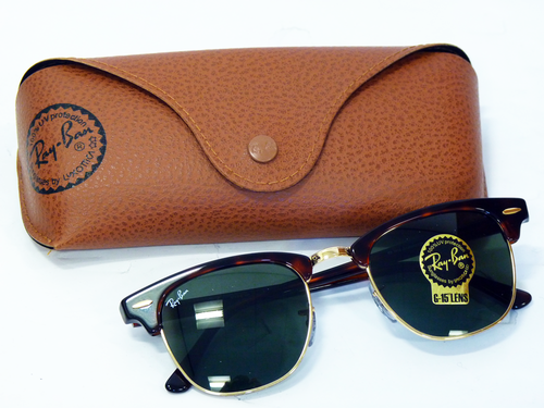 9fdee3ed79db ... Retro Mod Clubmaster Indie Sunglasses in Brown. ray ban clubmaster brown