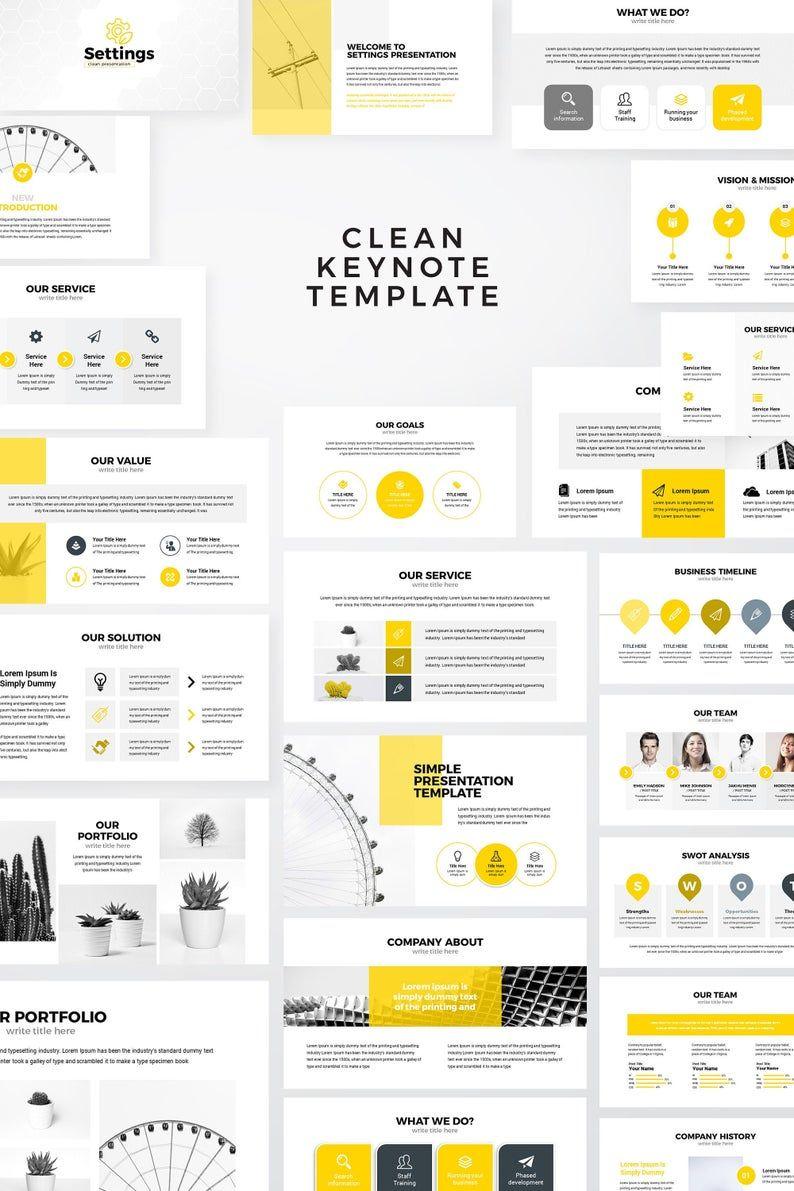 Settings Modern Clean Business Keynote Presentation Template