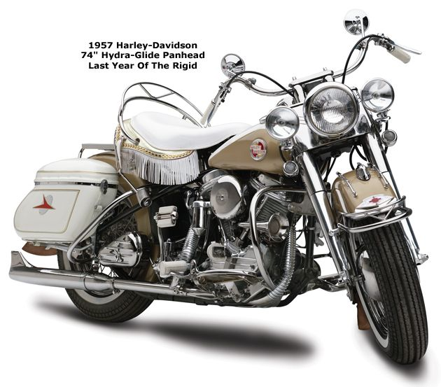 Photo Of A 1957 Harley Davidson Hydra Glide 74 Panhead