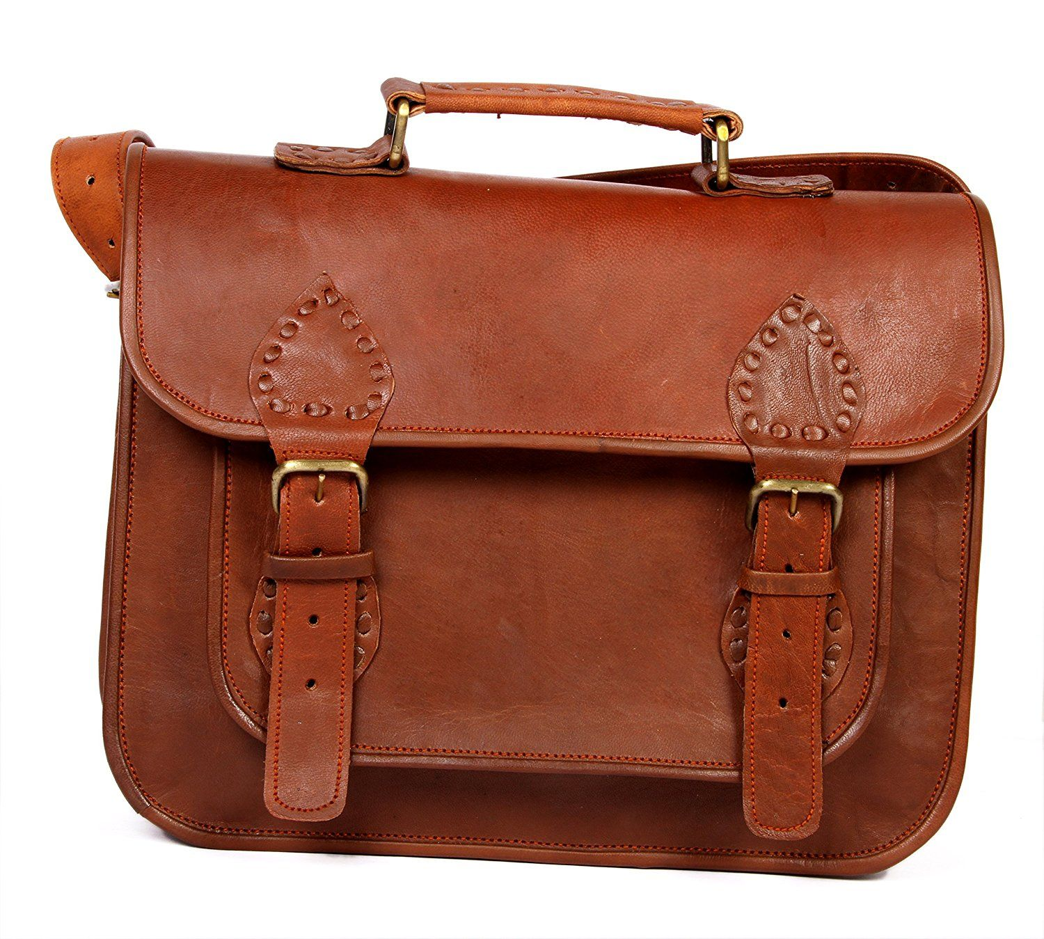 Vintage Crafts Leather Messenger Briefcase Leather Satchel Laptop Bag for  Men and Women Leather Bag     See this great image   Christmas Luggage and  Travel ... 5158ef2b99fce