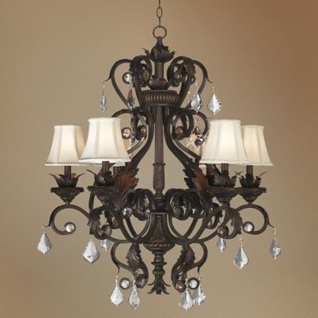 Kathy Ireland Ramas De Luces Bronze 30 Wide Chandelier 12798 Lamps Plus In 2020 Chandelier Shades Chandelier Chandelier Design