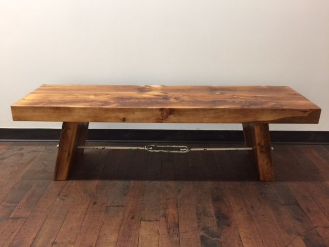 Turnbuckle Bench Reclaimed Wood And Antique Turnbuckle