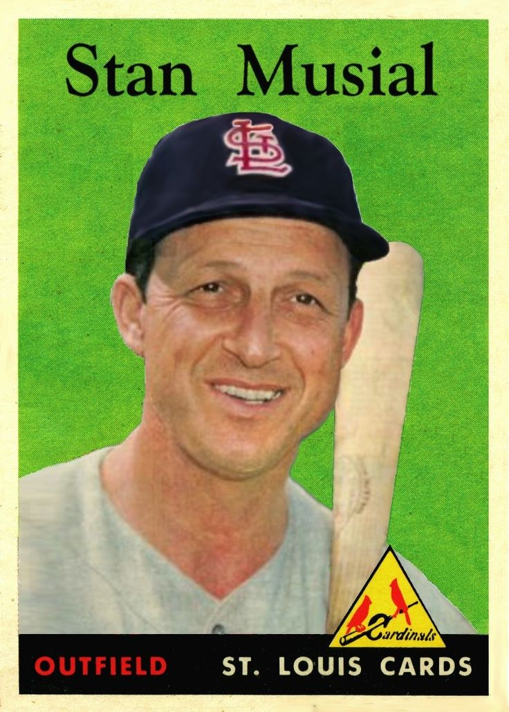 Pin By Susan Gardner On Remember When Pinterest Baseball Cards Stan Musial Old Baseball Cards