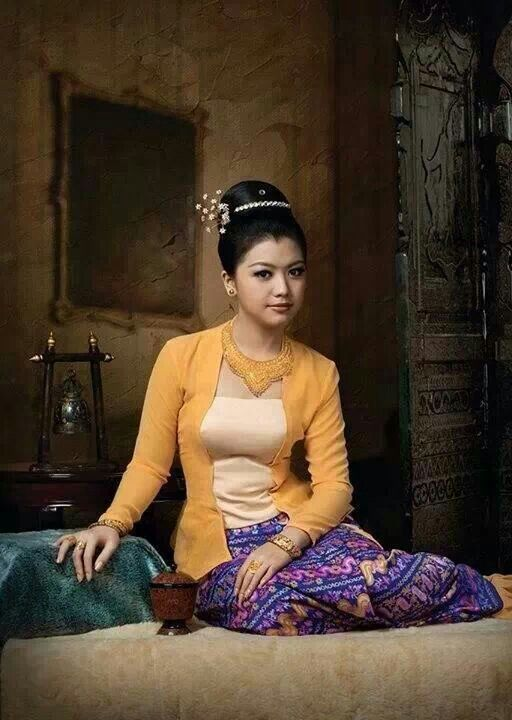 myanmar dress | Myanmar traditional dress | Pinterest | Burmese ...