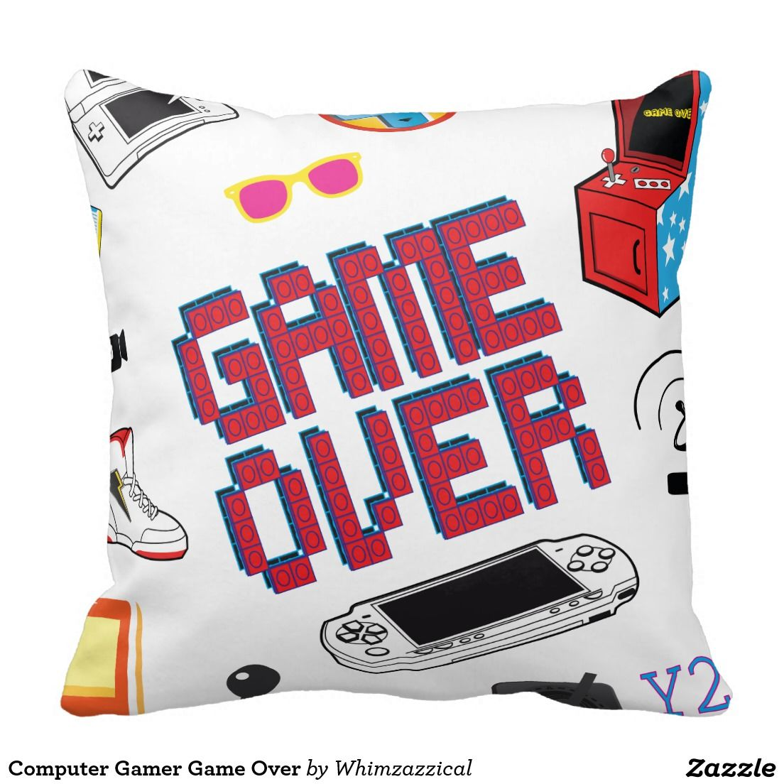 b267e93f0 Computer Gamer Game Over Throw Pillow