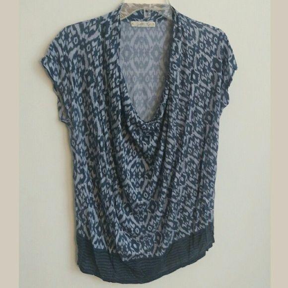 Soft Joie blue ikat top Soft Joie blue ikat top w/ drapped neckline Joie Tops