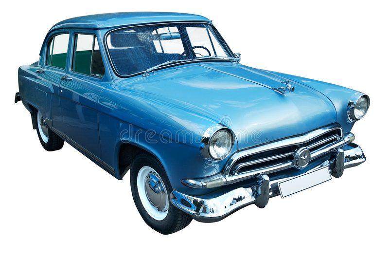 Classic Blue Retro Car Isolated Stock Image – Image of past, transportation: 802677