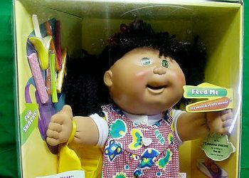 Cabbage Patch Dolls At The Time Had Cranked Out This Demon Doll From Their Nightmare Machine The Snacktime Cabbage Patc Cool Toys Cabbage Patch Kids 90s Kids